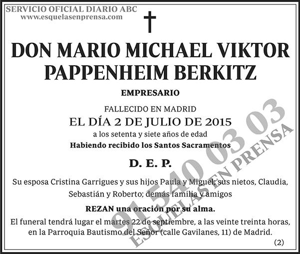 Mario Michael Viktor Pappenheim Berkitz
